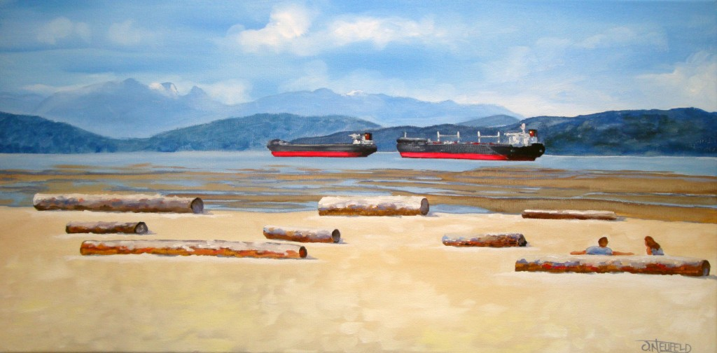 Freighters at Spanish Banks